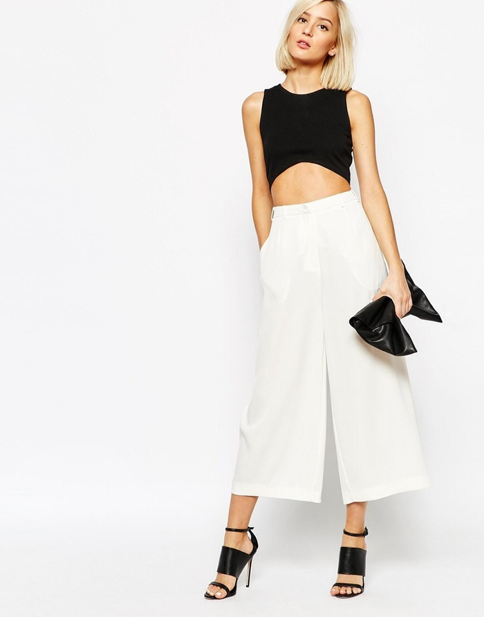 white culottes for the summer job interview