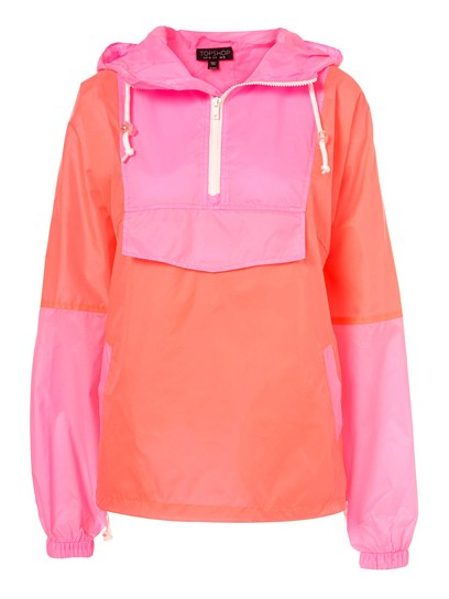 neon pullover for a camping trip