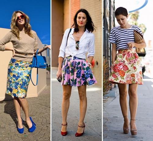 floral skirts for house party