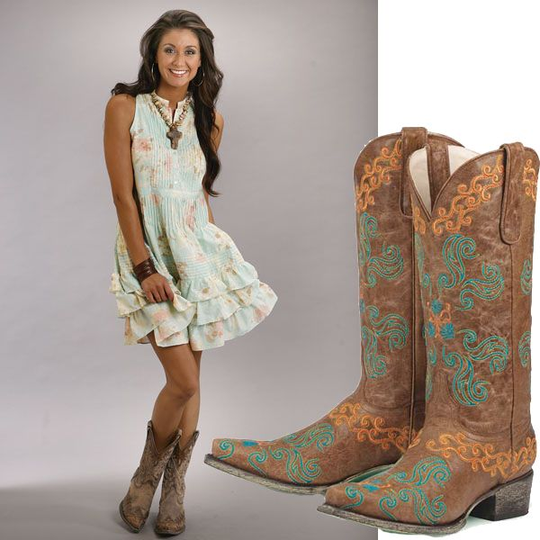 boots at the country music concert