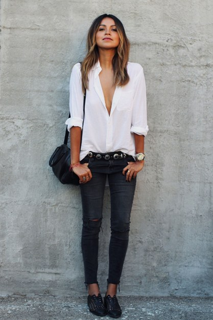 Cool New Ways of Wearing Basic Skinny Jeans