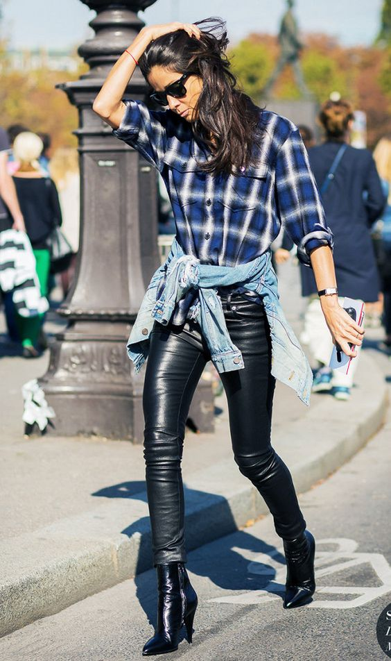 Fresh Fun Ways To Wear Your Plaid Shirt This Fall And