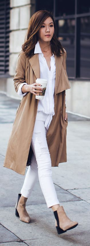 Chic Outfits to Wear with Trench Coat - Outfit Ideas HQ