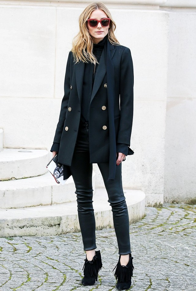 black ankle boots outfit ideas 2