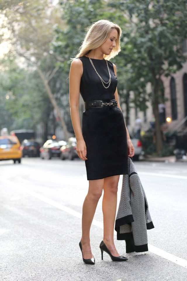 black pumps women outfit idea style fashion
