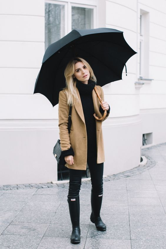 rainy outfit 50 degrees