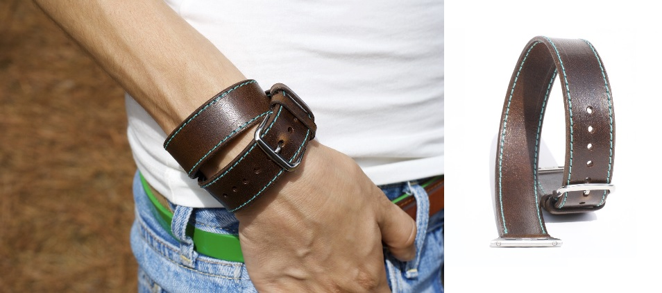 Chestnut Double Tour Apple Watch Band