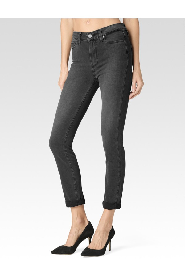 Hoxtonn Crop Rol up Jean in Smoke Grey orchard mile
