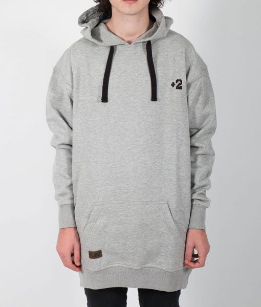 PLus2clothing Grey Hoodie