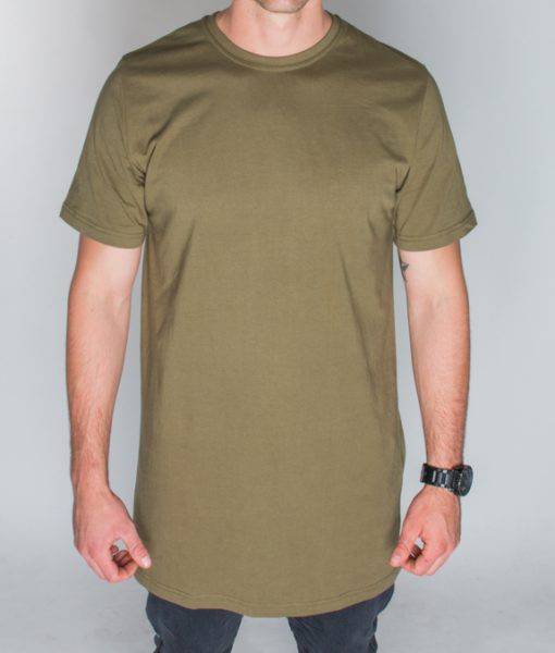 plus2cothing tall army green tee