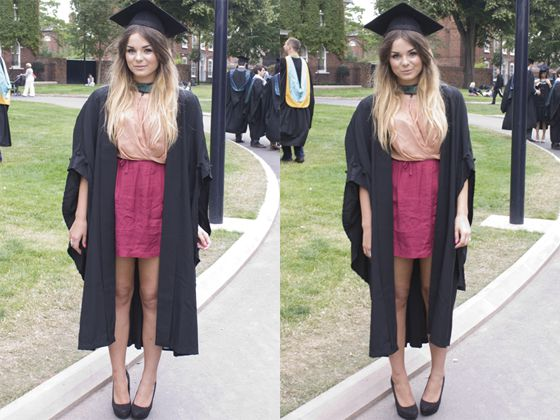 what to wear under graduation gown female