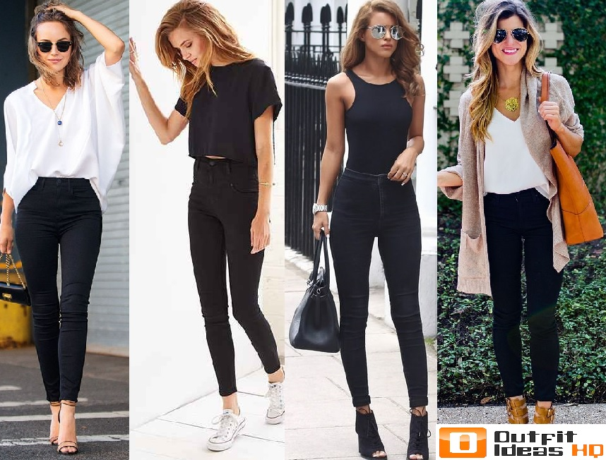what to wear with black high waisted jeans wwwpixshark