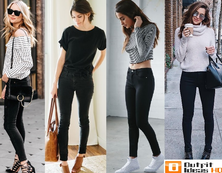 Black skinny jeans outfit ideas
