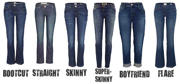 Explain Different Cuts of Jeans