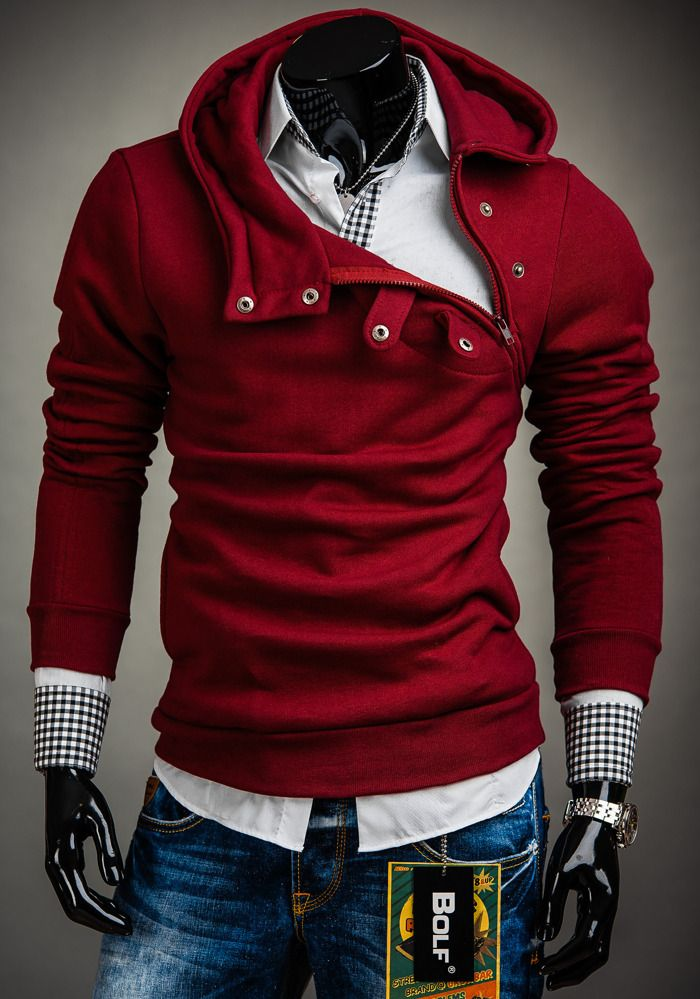 Polish Maroon Bolf Hoodie for Men