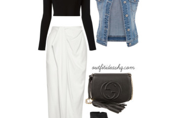 fitted long skirt styling and outfit ideas 2