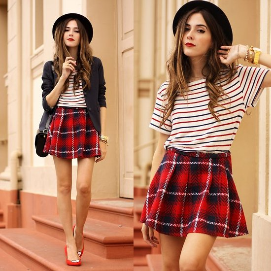Plaid + Stripes Outfit Ideas - Outfit Ideas HQ
