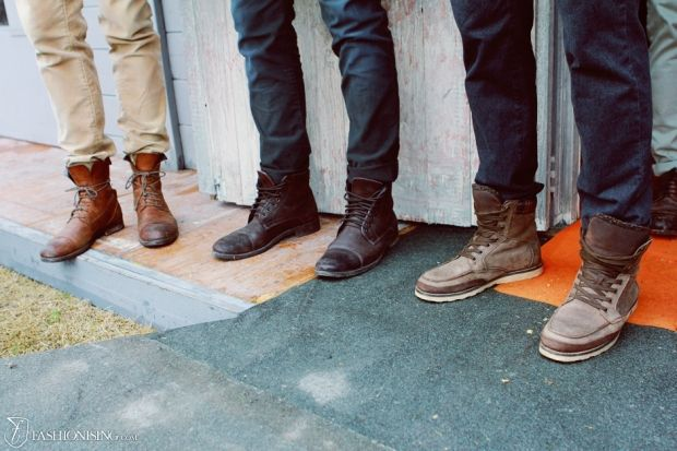 Casual And Fashionable Fall Lace Up Boots For Men Outfit