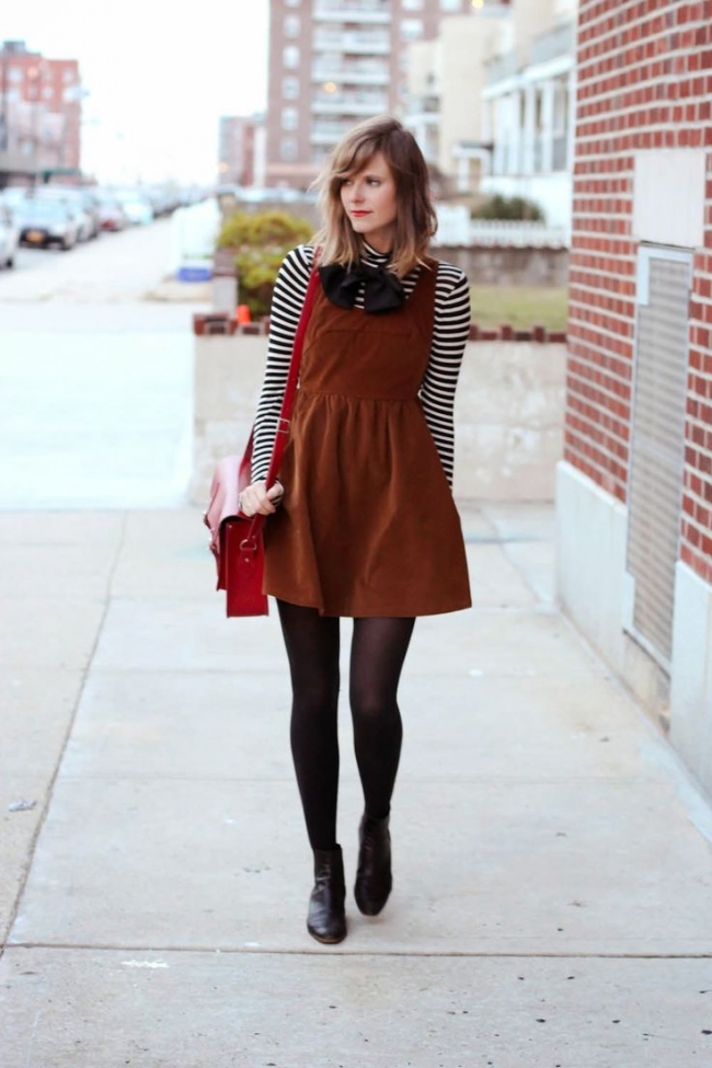 ankle boots and a dress